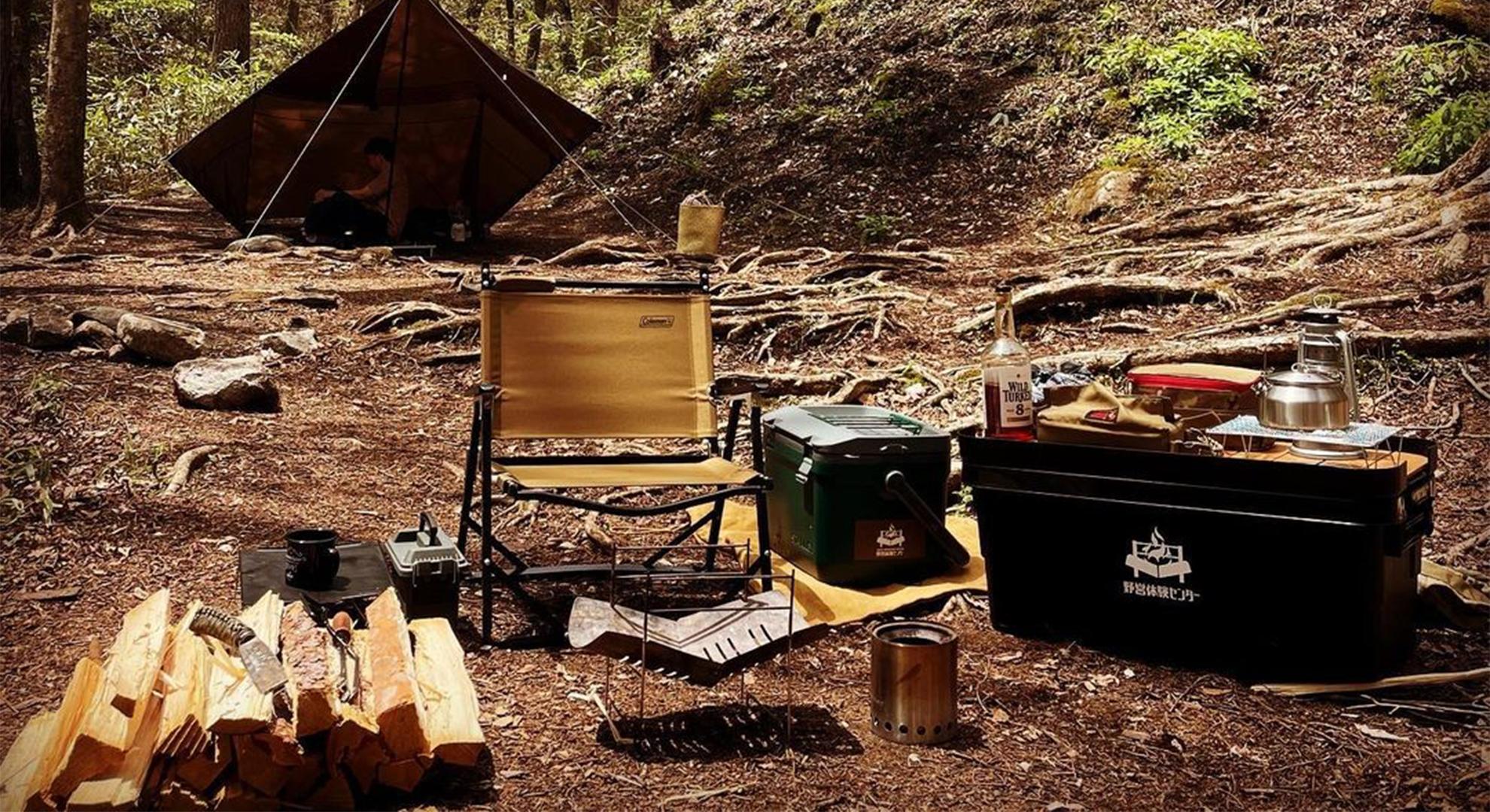 トランクカーゴとソロキャンプへ行く